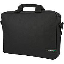 """Сумка для ноутбука 15.6"""" Grand-X SB-115, черная, ремень на плечо, 39 x 28,5 x 6 см, фото 3"""