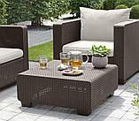 Набор садовой мебели Salta Duo Set Brown ( коричневый ) из искусственного ротанга ( Allibert by Keter ), фото 2