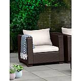 Набор садовой мебели Salta Duo Set Brown ( коричневый ) из искусственного ротанга ( Allibert by Keter ), фото 7