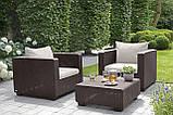Набор садовой мебели Salta Duo Set Brown ( коричневый ) из искусственного ротанга ( Allibert by Keter ), фото 6