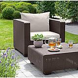 Набор садовой мебели Salta Duo Set Brown ( коричневый ) из искусственного ротанга ( Allibert by Keter ), фото 8
