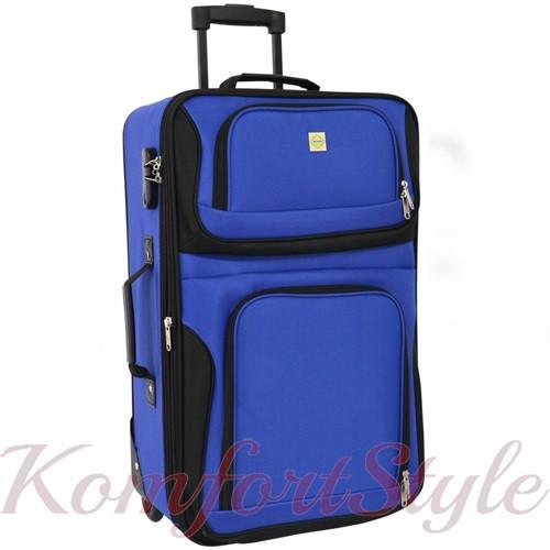Дорожный чемодан на колесах Bonro Best маленький синий (10080202)