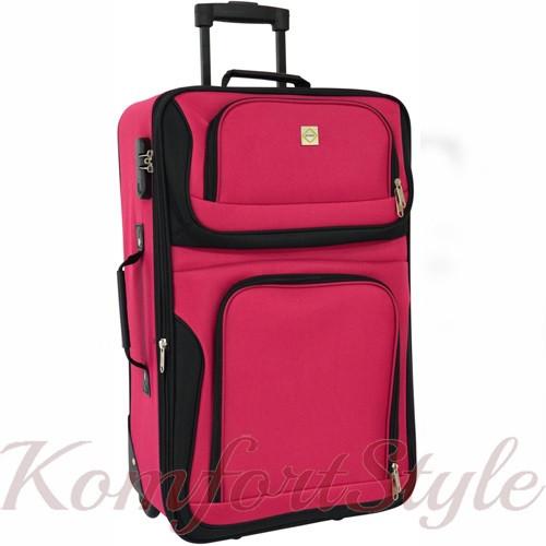 Дорожный чемодан на колесах Bonro Best средний вишневый (10080300)
