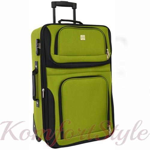Дорожный чемодан на колесах Bonro Best средний зеленый (10080301)