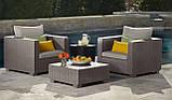 Набор садовой мебели Salta Duo Set Cappuccino ( капучино ) из искусственного ротанга ( Allibert by Keter ), фото 6
