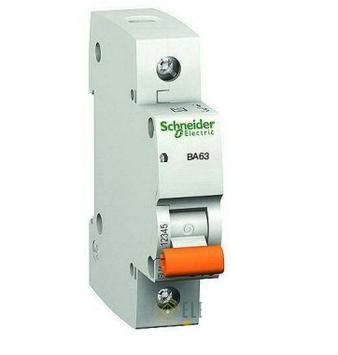 Автоматический однополюсный выключатель Schneider Electric BA63 1p 16А