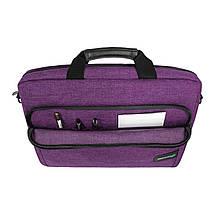 """Сумка для ноутбука 15.6"""" Grand-X SB-139P, фиолетовая, 38 х 26 х 5 см, фото 3"""