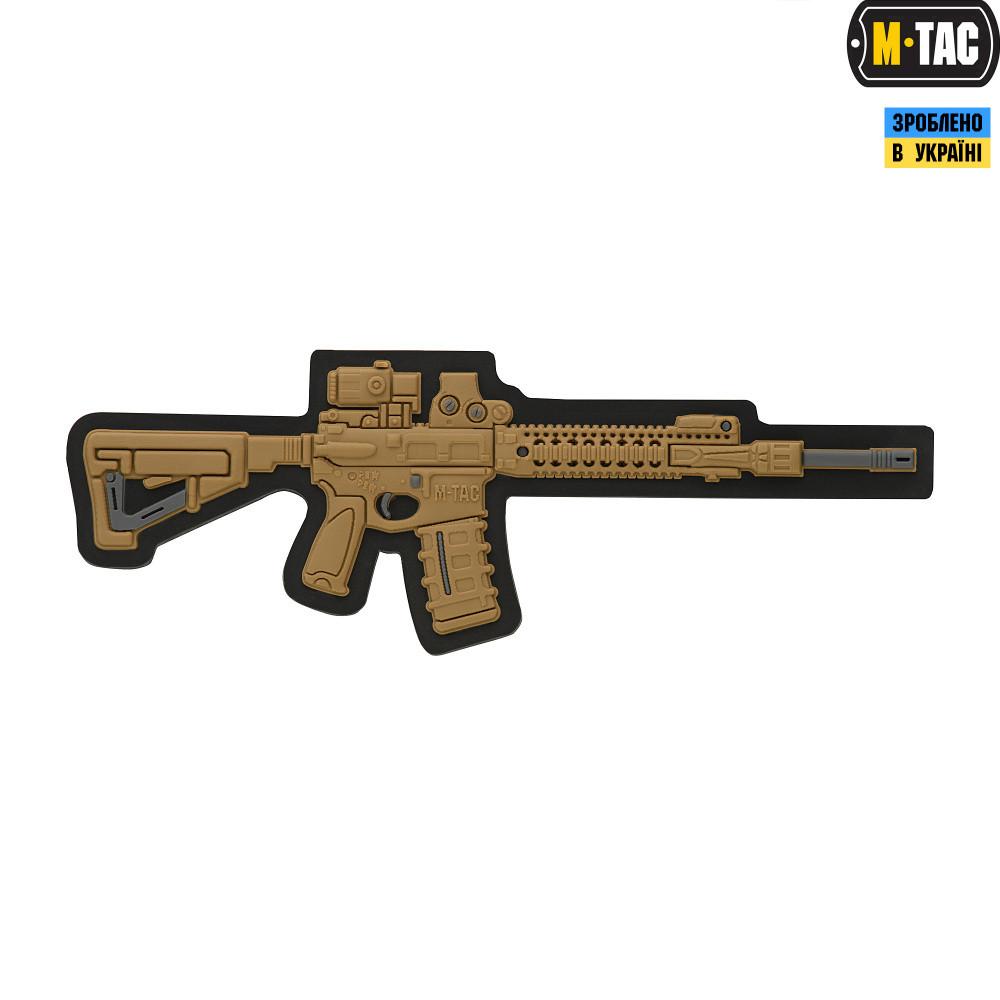 M-TAC НАШИВКА AR-15 3D ПВХ КОЙОТ