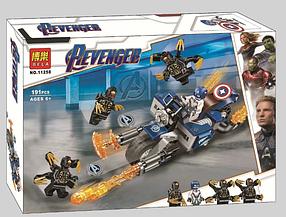 Конструктор Bela 11258Капитан Америка: Атака Аутрайдеров. Мстители (Аналог Lego Marvel Super Heroes 76123)