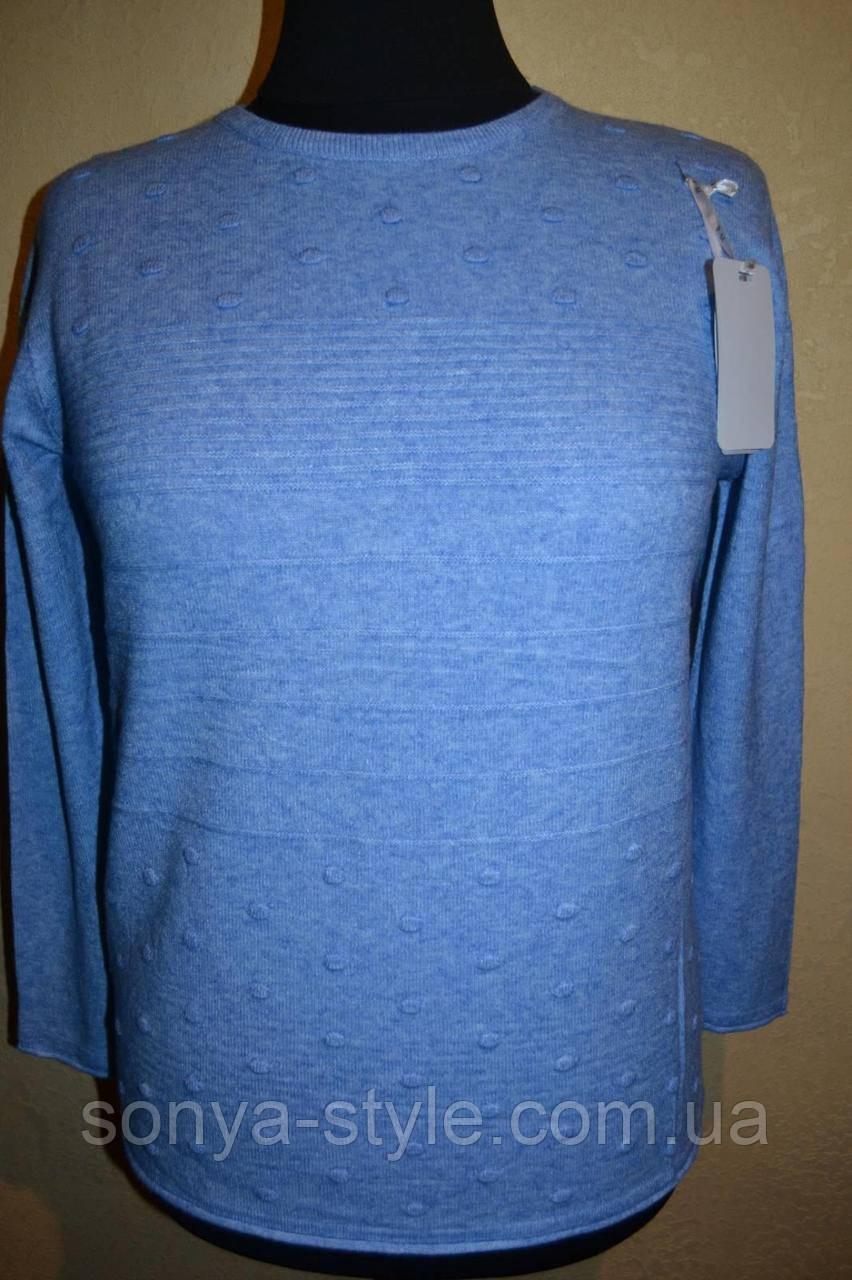 """Женская кофта с """"пуговками из ниток""""  больших размеров"""