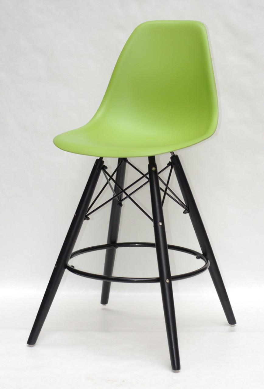 Полубарный стул Nik Eames, ярко-зеленый