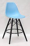 Полубарный стул Nik BK Eames, голубой, фото 2