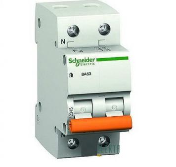 Автоматический выключатель двухполюсный Schneider Electric ВА63 1P+N 25А
