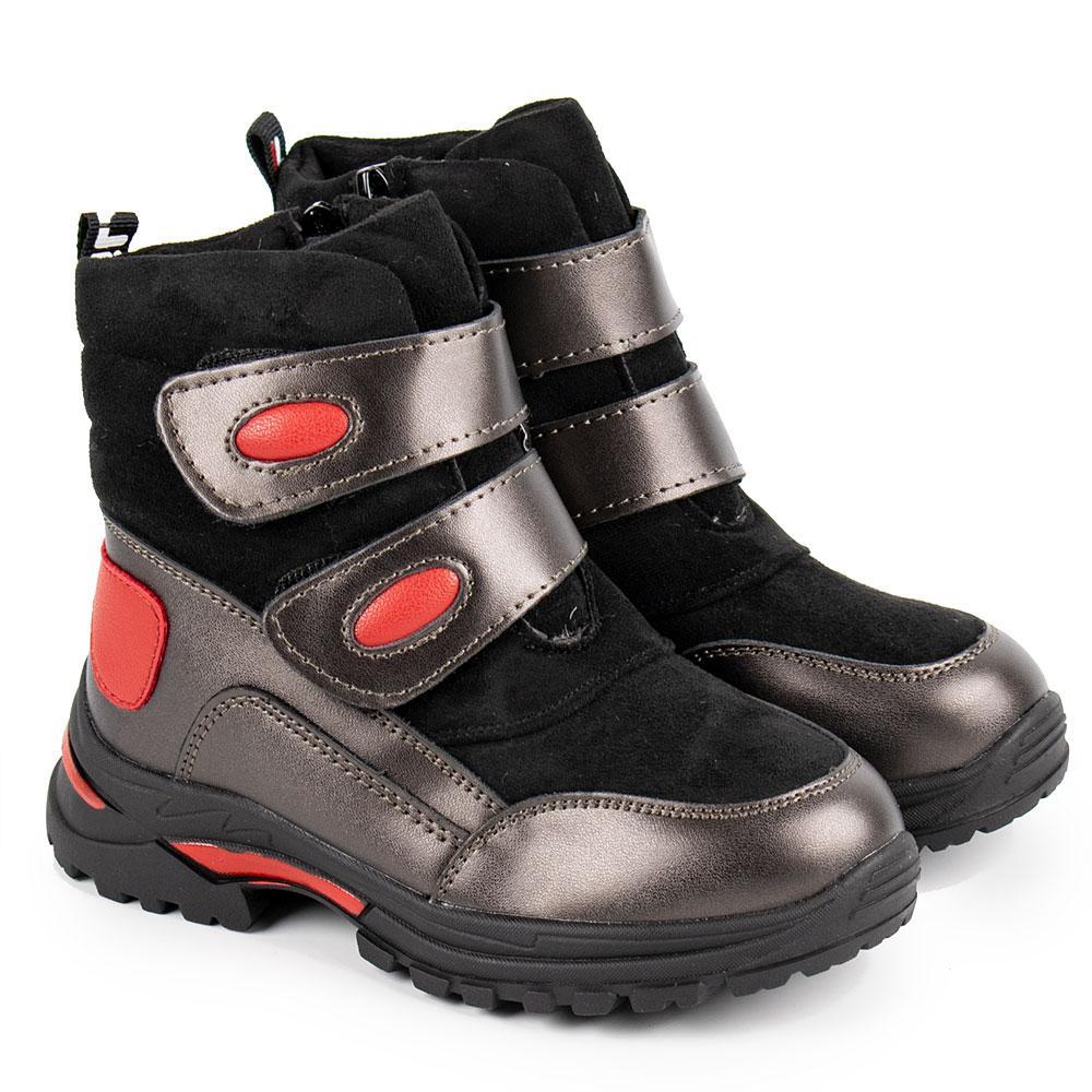 Ботинки зимние для девочек Bessky 26  платина 980726