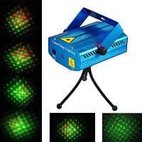 Лазер-диско red+green 6in1 (звездное небо + 5 фигур)