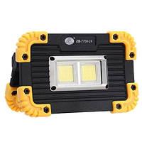 Прожектор светодиодный, 1x18650, зу micro usb
