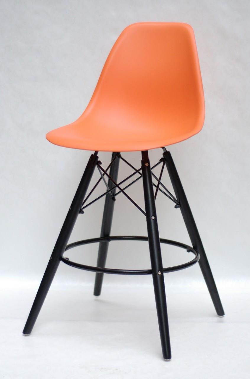 Полубарный стілець Nik BK Eames, помаранчевий