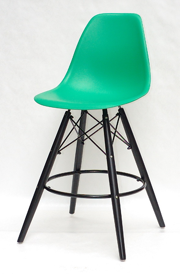 Полубарный стул Nik BK Eames, зеленый