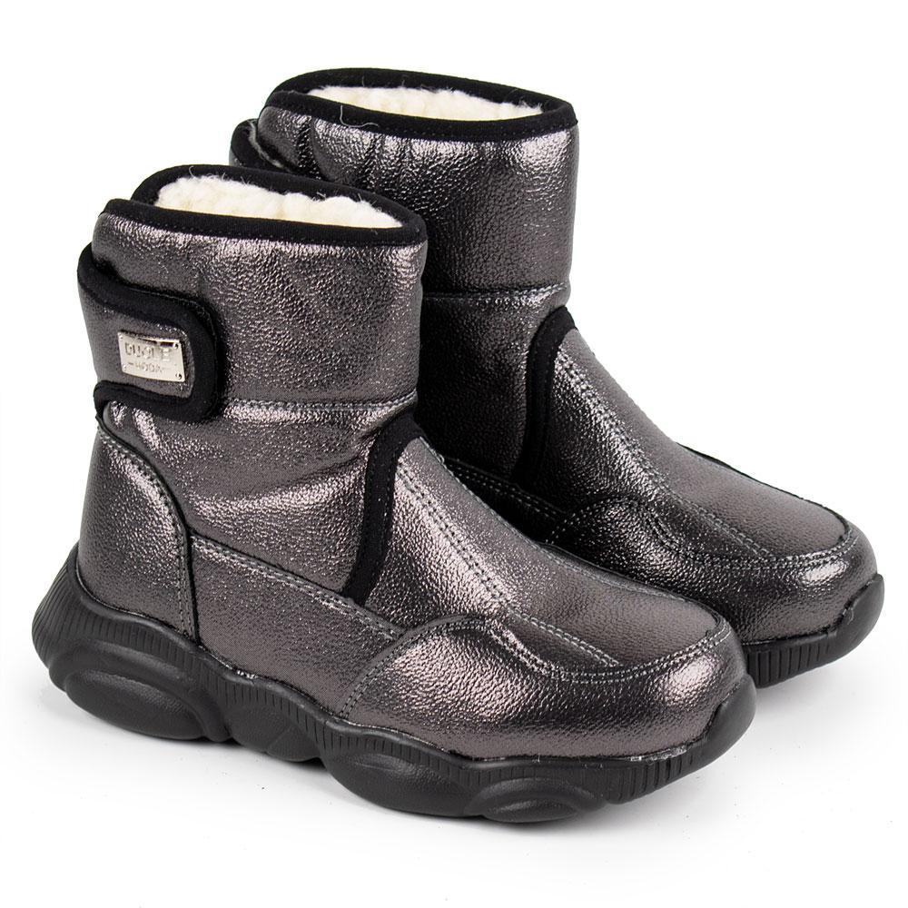 Ботинки зимние для девочек Bessky 27  платина 980733