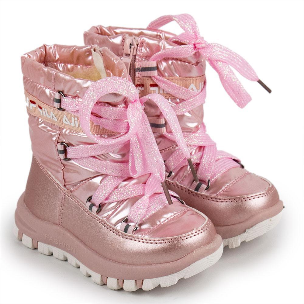 Сапоги зимние для девочек Bessky 24  розовый 980735
