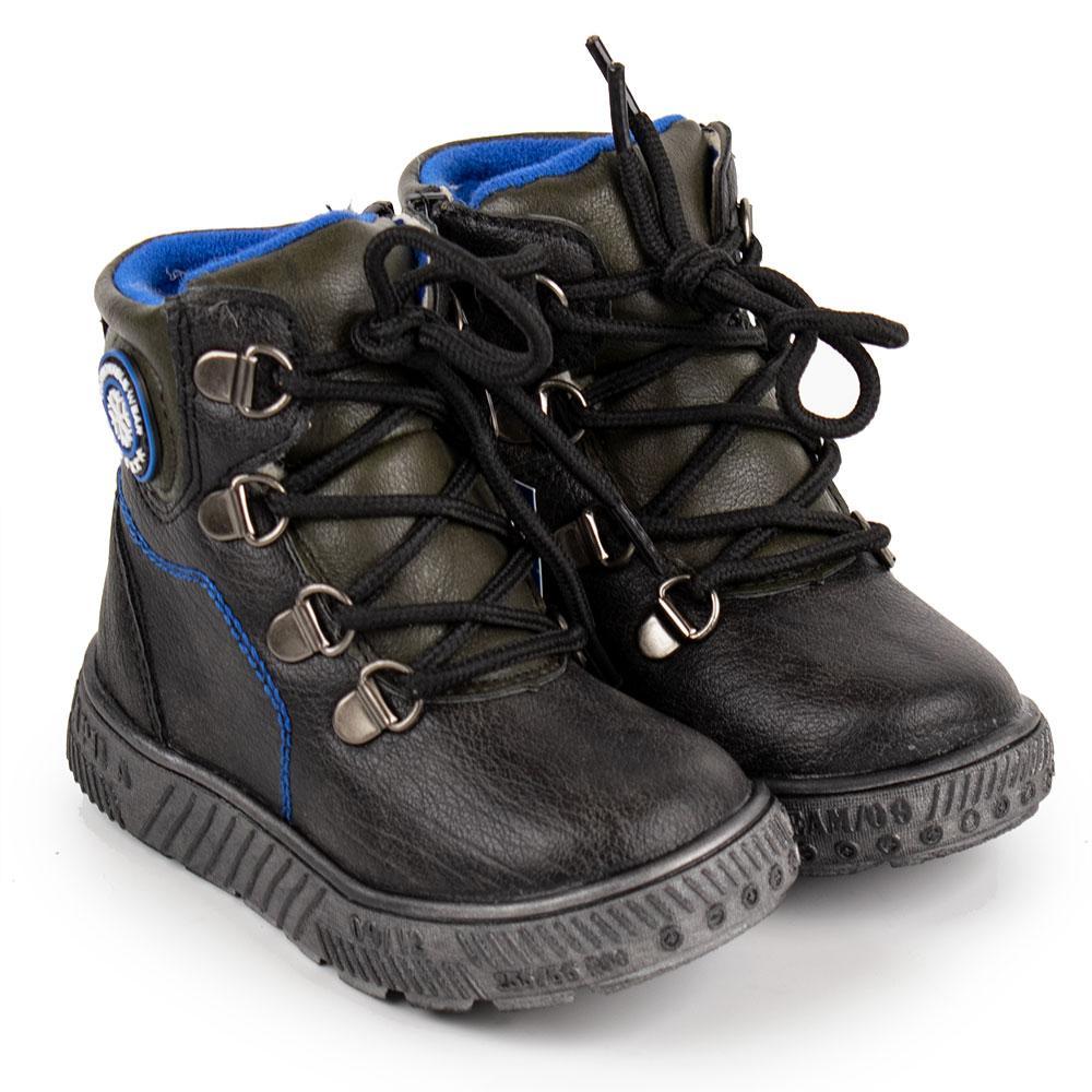 Ботинки зимние для мальчиков Солнце 23  черный 980740