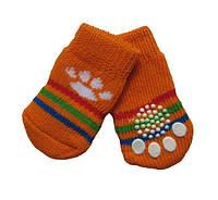 Носки для собак «Оранжевые лапки», размер M 4 шт.