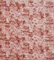 Самоклеющиеся обои Декоративная 3D панель ПВХ под красный мраморный кирпич