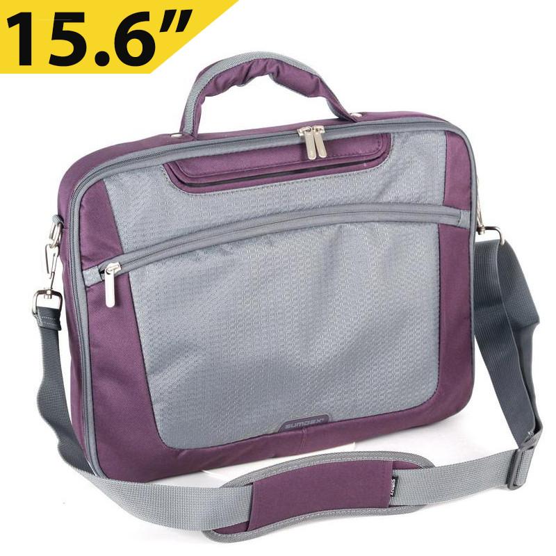 """Сумка для ноутбука 15.6"""" Sumdex PON-301PL, фиолетовая, полиэстер, 40 x 28,5 x 5 см"""