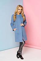 Пальто Р-2 (кашемир голубой) (размер 42)