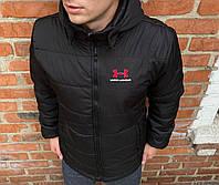 Куртка ветровка утепленная мужская осенняя весенняя черная Under Armour