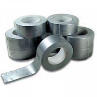Скотч-лента ПВХ армированный серый 50мм х 10м