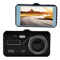 """Автомобильный видеорегистратор T672TP, 4"""", TOUCH SCREEN , металл, 2 камеры, 1080P Full HD"""