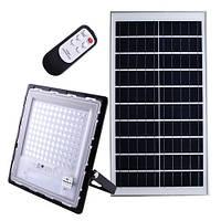 Прожектор с пультом JD-7120 120W, IP67, солнечная батарея, встроенный аккумулятор