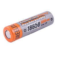 Аккумулятор для фонарика 18650, Greelite, 5800mAh, плоский плюс