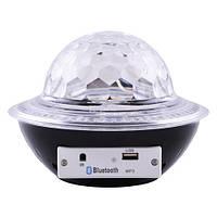Лазер диско UFO Bluetooth crystal magic ball, 220V, пульт Д/У
