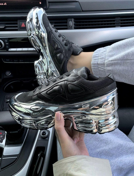 Женские кроссовки Adidas (Адидас) Raf Simons Ozweego Black