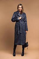 Модное женское зимнее пальто на запах с поясом