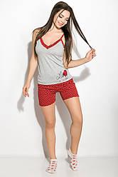 Пижама женская 107P014 (Серо-бордовый) M