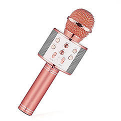 Беспроводной портативный микрофон Micgeek WS-858 Bluetooth для караоке Rose Gold 3270-9585, КОД: 1174786