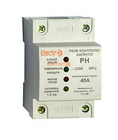 Реле контроля напряжения РН 1P+N 40А 7,4 кВт 230B Electro
