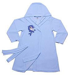 Халат для девочек Valeri-Tex 1751-20-081-008 140 см Голубой 4233, КОД: 1229291