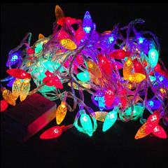 Новогодняя LED гирлянда с 20 лампочками в виде шишек