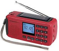 HR11S-R - FM/AW/SW (WB) всеволновой радиоприемник, Bluetooth, MP3/рекордер, динамо-генератор, солнечная панель, фонарь, фото 1