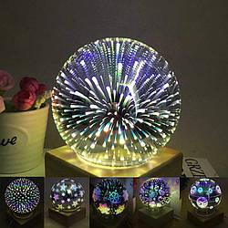 Ночник стеклянный шар подсветка в виде звездного света