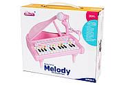 Детское пианино синтезатор Baoli с микрофоном 24 клавиши (белый), фото 2