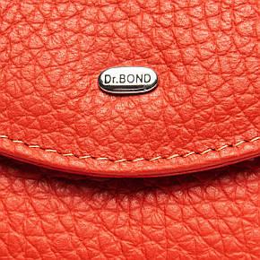 Гаманець на кнопці, колір - помаранчевий, Classic шкіра DR. BOND (WS-4 orange), фото 2