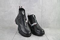 Женские ботинки кожаные зимние черные Best Vak БЖ 46-01, фото 1