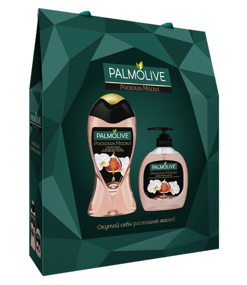 Новинки  Подарочный набор Palmolive Роскошь масел Гель для душа с маслом Макадамии 250 мл и Жидкое Мыло с маслом Макадамии 300 мл