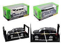 "Машина металл ""АВТОПРОМ"",1:24 Toyota, 2 цвета, батар.,свет,звук,откр.двери, в кор. 24*11*11см /36-3/"