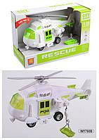 """Вертолет """"Спаситель"""" инерц., муз и свет., в кор. 24*10,5*15,5см. /48-2/"""